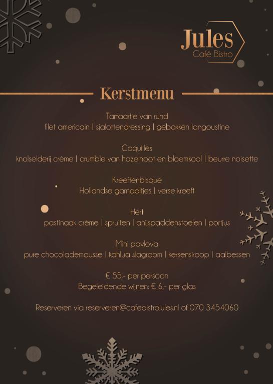 menukaart kerst